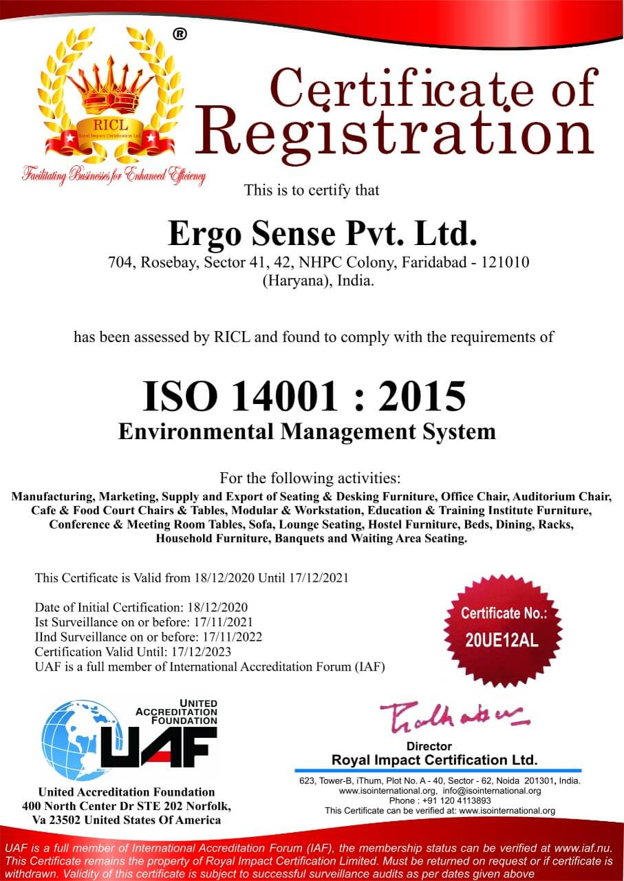 ISO 2001 - 2015